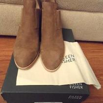 New Eileen Fisher Even-Nu Sienna Tumbled Nubuck Suede Ankle Booties Size 9 M Photo
