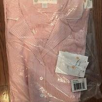 New Eileen West Cotton Capri Pajama Set Red and White Striped Size Small Nwt Photo