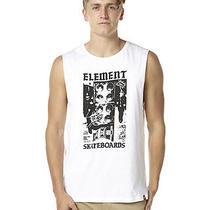 New Element Men's Soundsystem 1 Mens Muscle Mens Vests White Photo