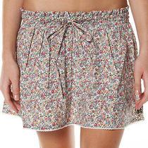 New Element Sasha Mini Skirt - 10 - Floral / White Crochet - Spring Summer Beach Photo