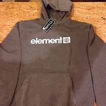 New Element Skateboard Hoodie Snowboard  //  Sweatshirt // Men's M Gray Thick Photo