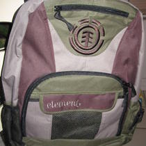 New Element Skater Backpack Book Student Bag Boys Mens Brown Tan Army Green Photo