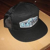 New Element Snapback One Size Adjustable Snap Back Trucker Hat Skate Surf  Photo