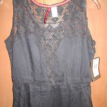 New Element Sz S Mini Dress Boho 54 Retail Lace Detail Grey Photo