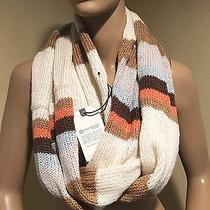New Element Women's Eden Multi-Color Beige Striped Scarf Photo