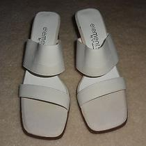 New Elements by Nina Ivory Elastic Sandals Shoes Size 6m Photo