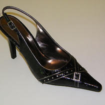 New Elements by Nina Vanessa Black Pointy Slingback 10 Wide Photo