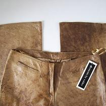 New Elements by Vakko Leather Pants Sz 10/46 Vakko Brown Leather Pants W/tags Photo