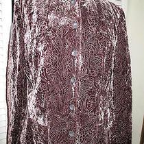 New Elie Tahari Luxurious Velvet Patterned Jacket Sz 8 Photo