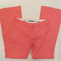 New Elie Tahari  Upscale Casual Summer Boot Leg Pants Pink  Polyester Us 8 Uk 12 Photo