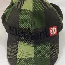 New Era 59fifty Element Hat Nwot Green Black Watch Plaid Stripe Stretchfit 7 1/4 Photo