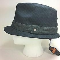 New Era Ek Alcee Graphite Pinstripe Fedora Hat Xl Extra Large Nwt Photo