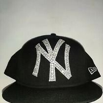 New Era New York Yankees Fitted Hat Size 7 3/4 Swarovski Crystals Cap Medallion Photo