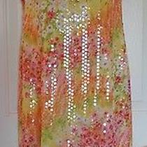 New Escada 38 8 Sequinn  Floral Sleeveless Sundress Photo