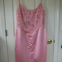 New  Escada  Jacket & Dress  Suit  42  12 3900 Pink Satin Silk Photo