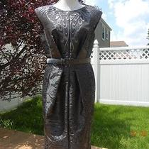 New Escada Taffeta Metallic Dress Size 40 Us 10 Photo