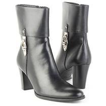 New Etienne Aigner Women Comfort High Heel Mid Calf Side Zip Boot Shoe Sz 7.5 M Photo