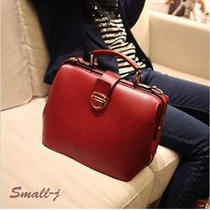 New European With American Style Pu Leather Shoulder Doctor Bag Handbag Purse 01 Photo