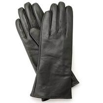New Excelled Ladies Cashmere-Lined Lamb Leather Gloves Graphite Sz Large Photo