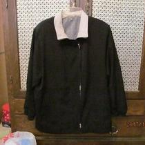 New Excellent Long Black Jacket Lined Over the Hips L to Xl Photo