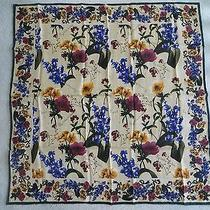 New - Express 100% Silk Scarf - Multi-Color Floral Photo