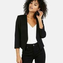 New Express 108 Solid Black Cutaway Blazer Suit Jacket Sz 8 Photo