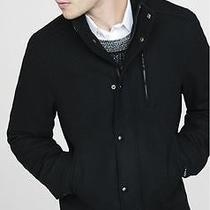 New Express 248 Water Resist Tall Long Wool Blend Bomber Coat Jacket Black Xl Photo
