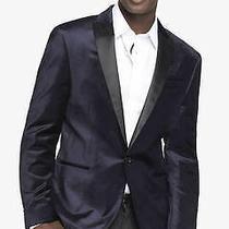 New Express 250 Navy Velvet Photographer Blazer Suit Jacket Sz 36 S Photo