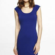 New Express 70 Blue Cap Sleeve Sheath Dress Sz 2 Photo