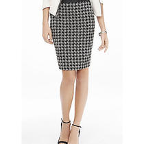 New Express 70 Houndstooth & Minus the Leather Pencil Skirt Sz 10 Photo