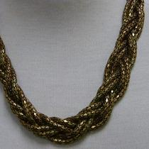 New Express Antique Gold  Braided Mesh Necklace Photo