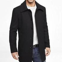 New Express Black Water Resistant Wool Blend Commuter Coat Sz Xs Photo