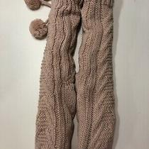 New Express Cable Knit Pom Slipper Socks Women