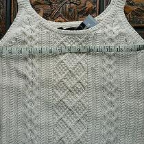 New Express Creme Cable Sweater Medium Org 49 Photo