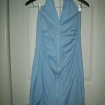 New Express Design Studio 8 Blue Halter Dress Photo