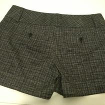 New Express Desing Studio Sz 8 Plaid Shorts Dress White/black  Nice Must Ser Photo