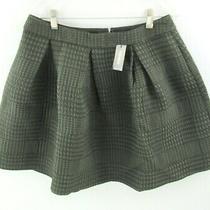 New Express Flare Full Pleated Mini Skirt Womens Size 10 Green Black Nwt Photo