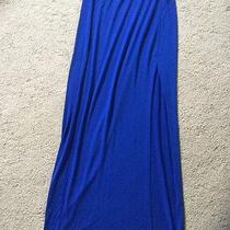 New Express M Skirt Royal Blue Stretchy Knit Maxi Solid 8 10 Casual Cotton Photo