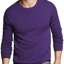 New Express Men's Crew Neck Wool Sweater Xl Nwt 70 (Slim Ribbed Merino Wool) Photo