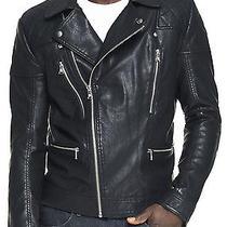 New Express Men's Faux Leather Biker Moto Motorcycle Jacket Nwt L 250 Last Photo