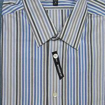 New Express Men's Modern Fit Striped Casual Dress Shirt Nwt Size M 60 Last Photo