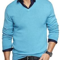 New Express Men's Pure Merino Wool v-Neck Sweater Nwt L 70 Last One Photo