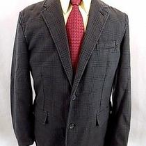 New Express Men's Sport Coat Sz M Medium Charcoal Tonal Plaid Blazer Jacket Nwt Photo