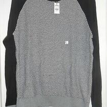 New Express Men's Textured Cotton Crew Neck Sweater Sz L Photo