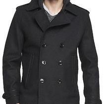 New Express Men's Water Resist Wool Peacoat Coat Jacket Nwt L 230 Last One Photo