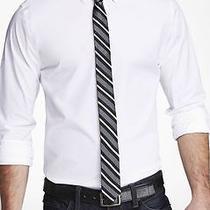 New Express Mens 1mx Modern Fit Stretch White Button Dress Shirt Size M 15-15.5 Photo