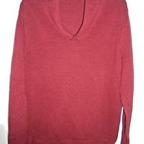 New Express Mens 68 Shawl Collar Waffle Weave Knit Sweater Top Brick Red Size M Photo