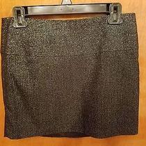 New Express Mini Wool Metallic Short Skirt Size 4 / S Photo