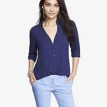 New Express Original Fit Convertible Sleeve Portofino Shirt Size M Photo
