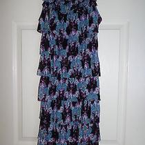 New Express -Paisley Short Dress Bright & Colorful Xs Photo